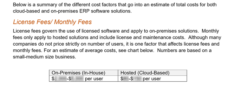 ERP Pricing Guide - Preview Text